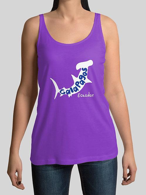 Neon Tank Top I Purple I Shark