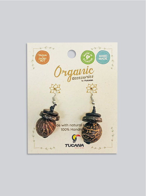Tagua Earrings I Flower Collection I Sunflower