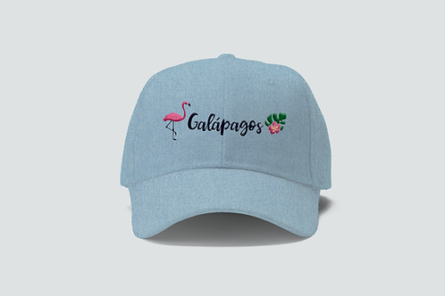 Cotton Cap I Denim Flamingo Galapagos