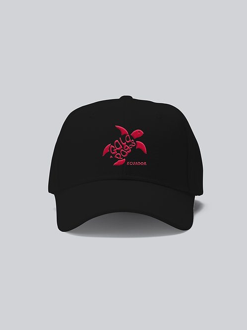 One Colored Cap I Black I Fuchsia Logo I Sea Turtle