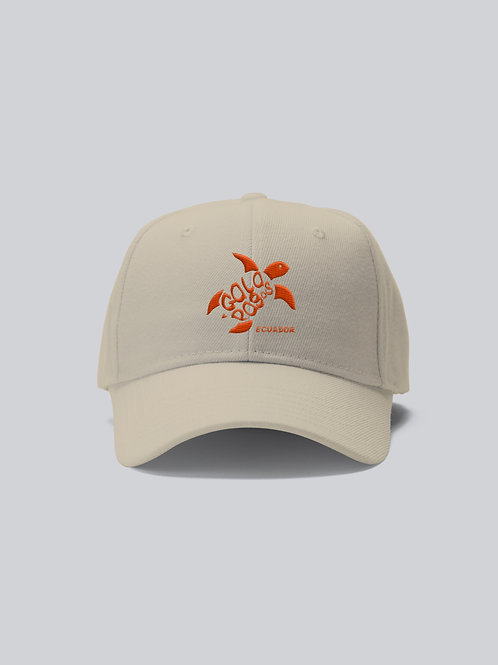 One Colored Cap I Khaki I Orange Logo I Sea Turtle