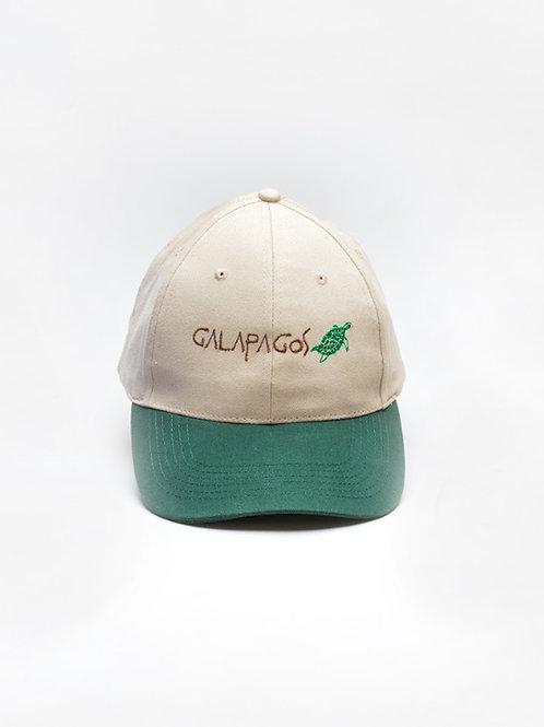Two Colored Cap I Khaki & Green I Sea Turtle