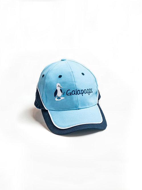 Three Colored Cap I Light Blue & Navy I Bluefoot Booby