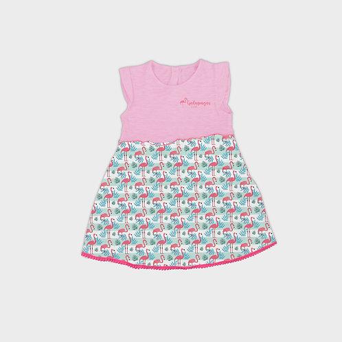 Pattern Dress I Flamingo