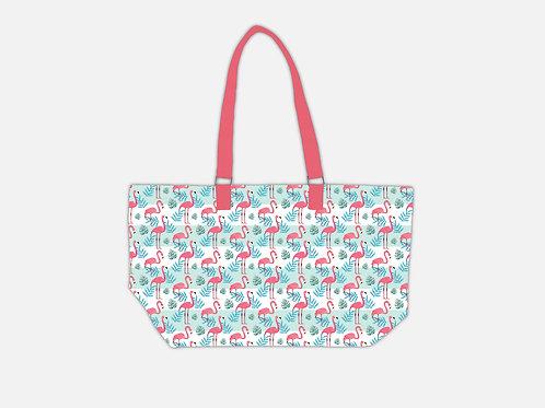 Line Tote Bag I Flamingo