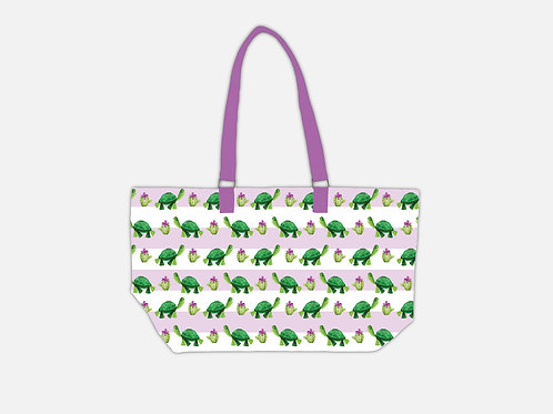 Line Tote Bag I Tortoise