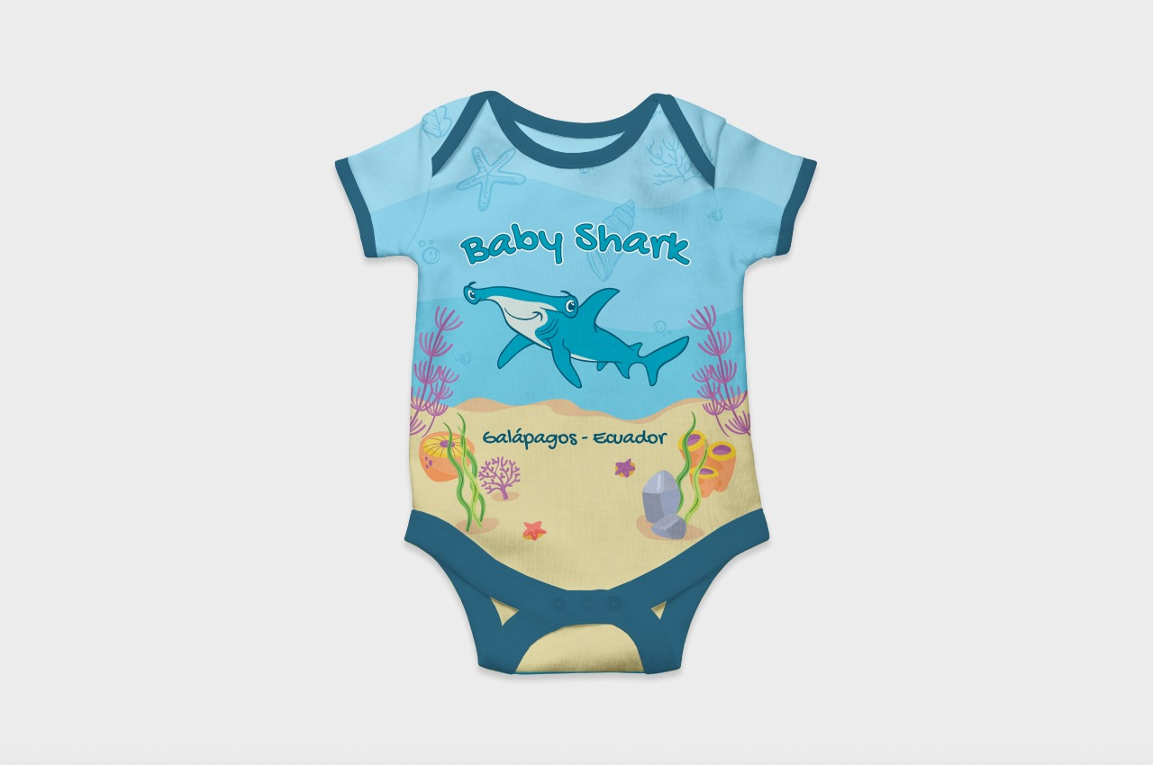 Full Color Babysuit I Shark