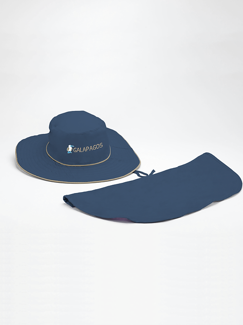 Safari Hat I Navy I Bluefoot Booby
