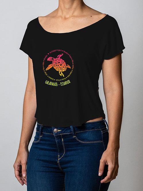 Round Neck shirt I Black I Galapagos Island's design