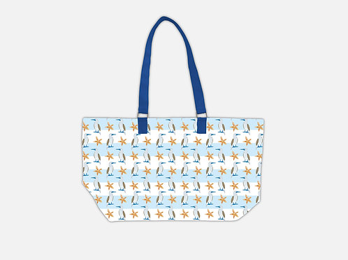 Line Tote Bag I Bluefoot Booby