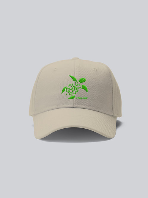 One Colored Cap I Khaki I Green Logo I Sea Turtle