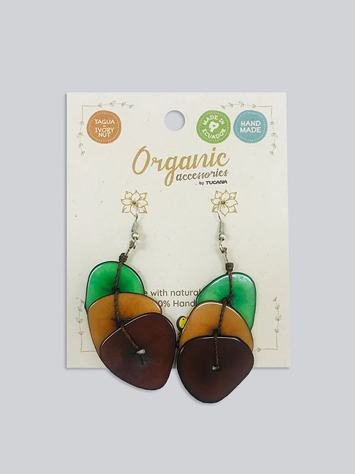 Tagua Earrings I Flower Collection I Astromelia