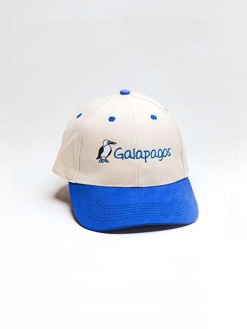 Two Colored Cap I Khaki & Blue I Bluefoot Booby
