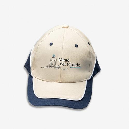 Quito Cotton Cap I Khaki & Blue I Mitad del Mundo
