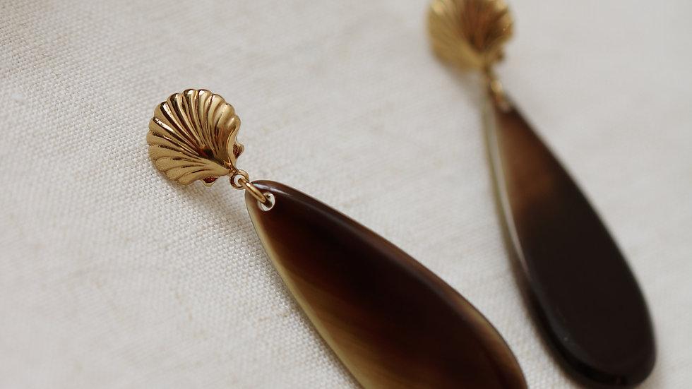 Boucles d'oreilles Océane brown