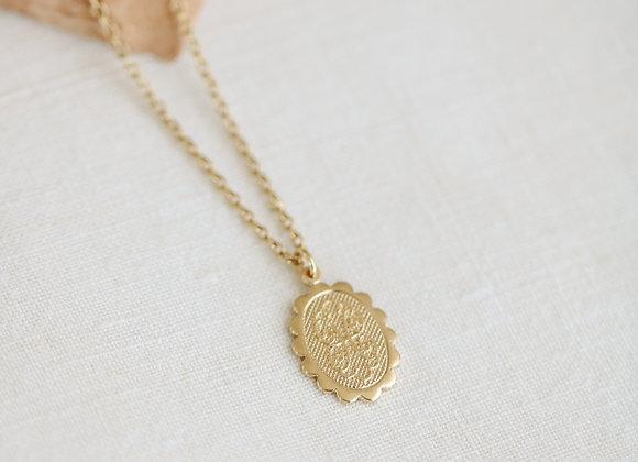 Collier médaille vintage Lou