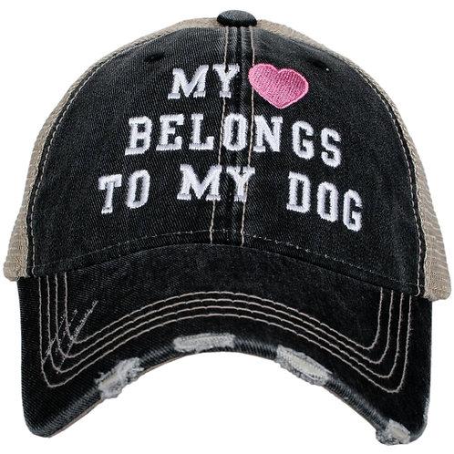 My Heart Belongs to My Dog Trucker Hat