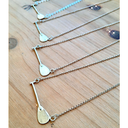 Paddle Necklace on Sterling Chain