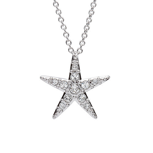 Starfish Pendant With Clear Swarovski® Crystals – Medium Size