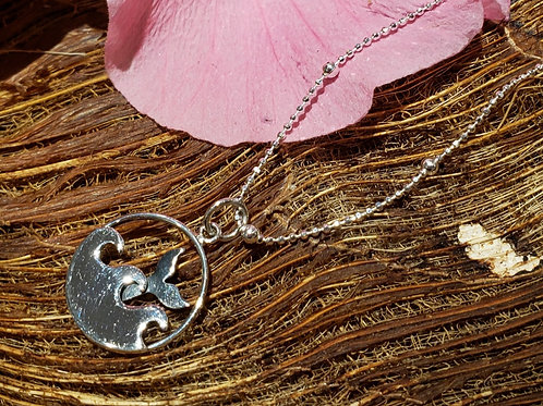 Waves and Whale Tail Necklace