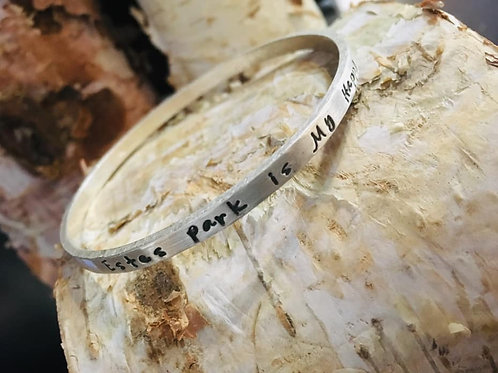 My ♥ is in Estes Park Bangle