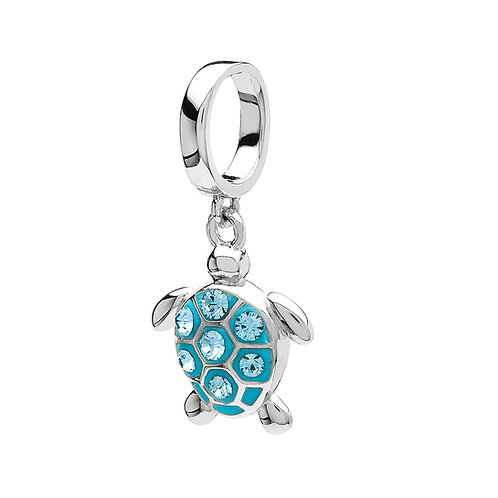 Sea Turtle Charm With Swarovski® Crystals