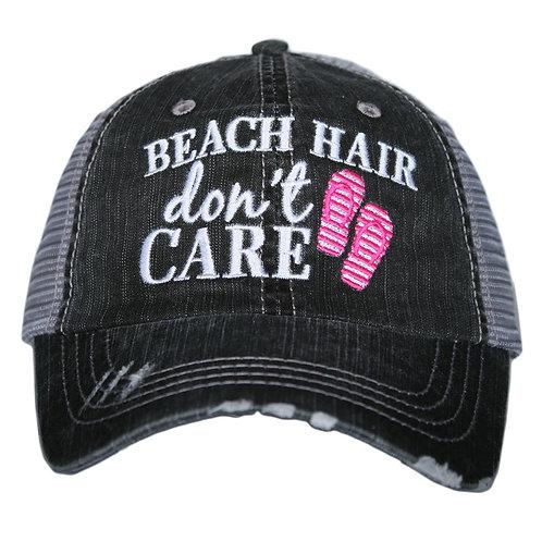 Beach Hair Don't Care Trucker Hat (flip flops)