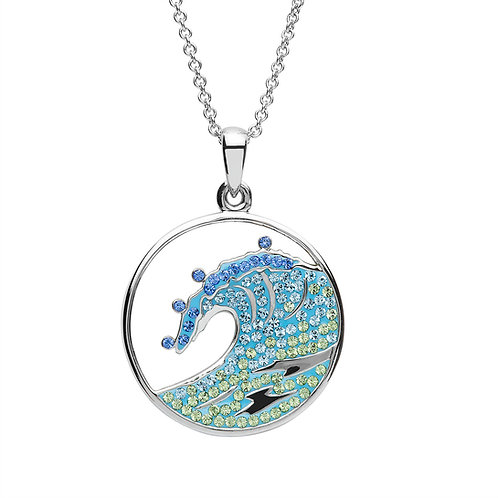 Wave Necklace With Swarovski® Crystals