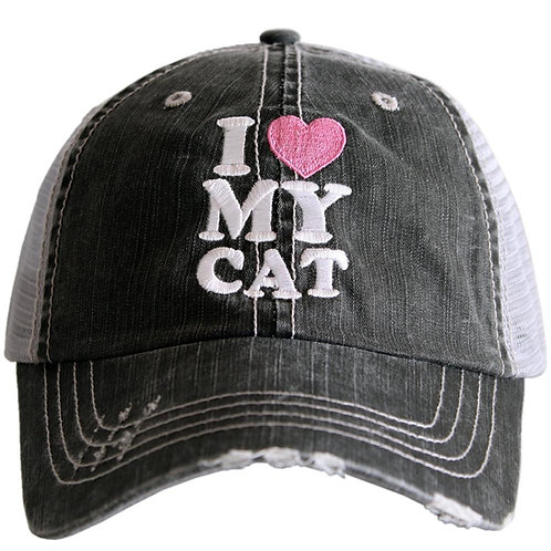 I Love My Cat Trucker Hat