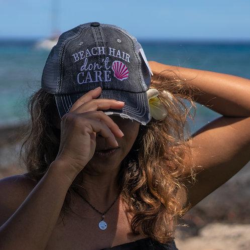 Beach Hair Don't Care Trucker Hat (Shell)
