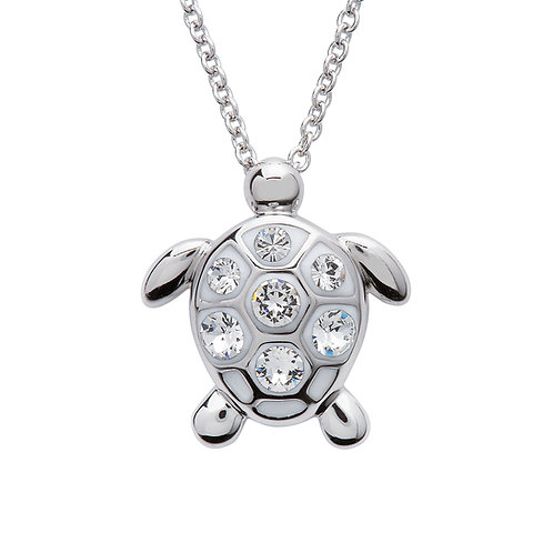 Turtle Pendant With Clear Swarovski® Crystals – Medium Size