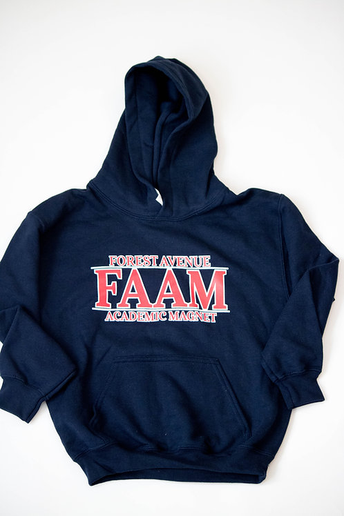 HOODED NAVY SWEATSHIRT