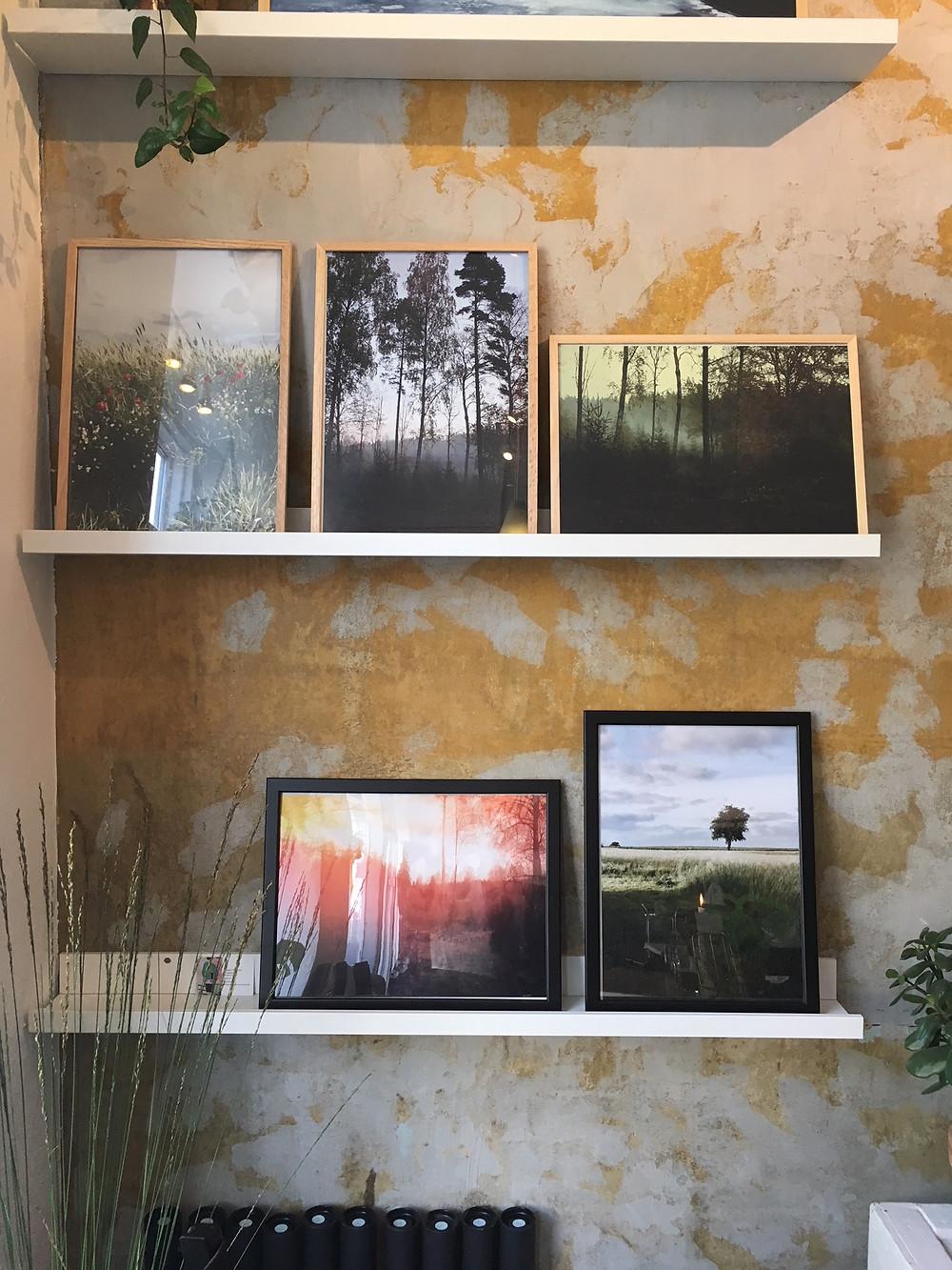 Væg med mine plakater