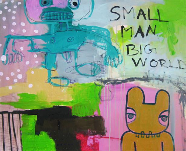 Small man big world. Doneret til Tellusart