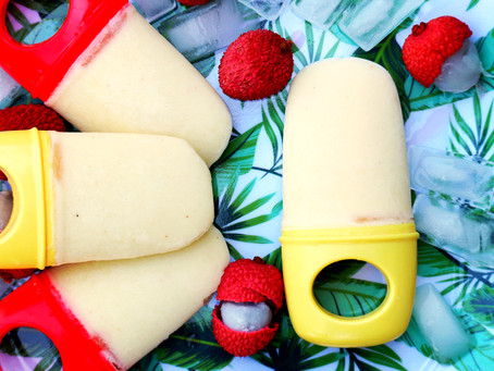 Lychee Piña Colada Popsicles