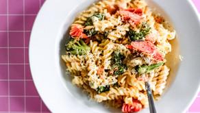 Creamy Pasta with Broccoli & Salmon