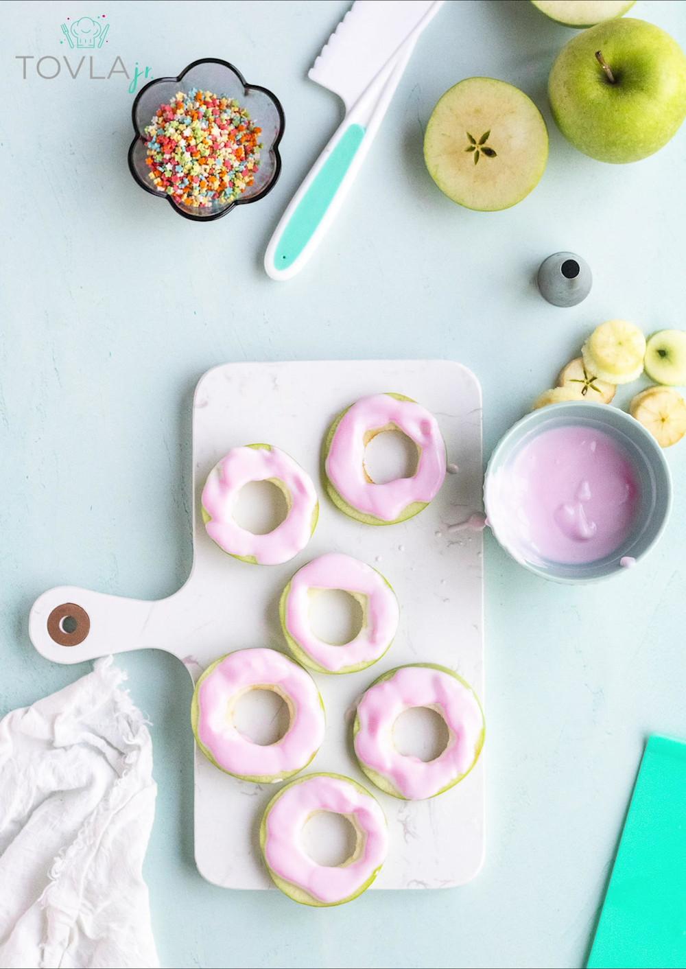 Apple Donuts for Tovla Jr.