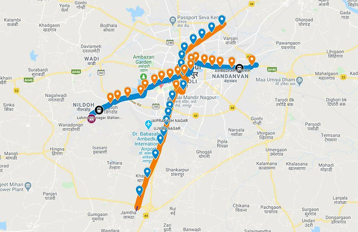Nagpur Metro Map