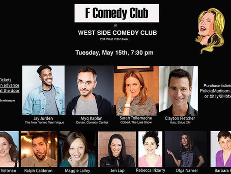 F Comedy Club Brings The Funny on Tuesday Nights at West Side Comedy Club