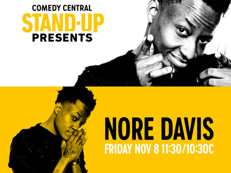 Nore Davis Captures Audiences Worldwide with New Comedy Central Half Hour Special