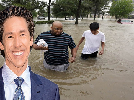 "EXPOSED: Joel Osteen Trades In ""WWJD"" for ""What Would Joel Do"", Hurricane Harvey"