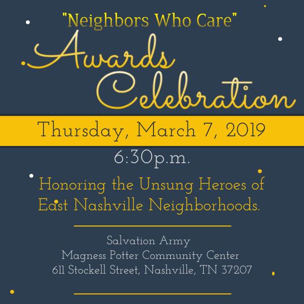 """""""Neighbors Who Care"""" Awards Celebration!"""