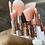Thumbnail: 10-Piece Pink Marble Makeup Brush Set (Travel size)