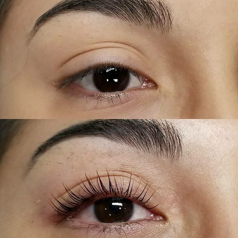 Lash Lifts make the eyes appear more ope
