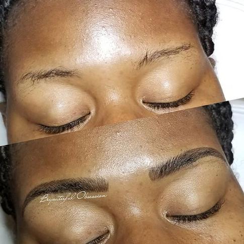 She said _I just want pretty eyebrows!_