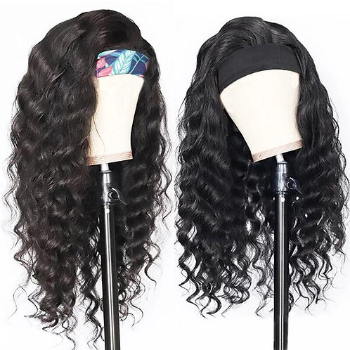 Brazilian Deep Wave Headband Wig