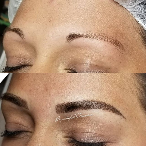 Gave this client new brows for new begin