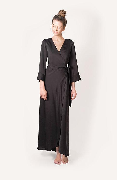 onyx wrap dress/robe