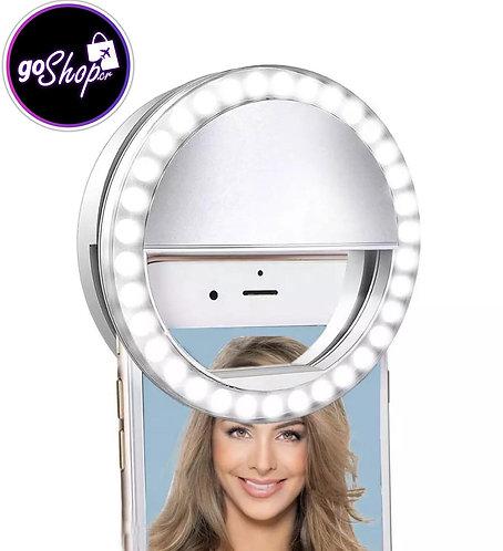 Aro portatil LED para celular