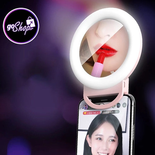 Mini aro de luz LED con espejo